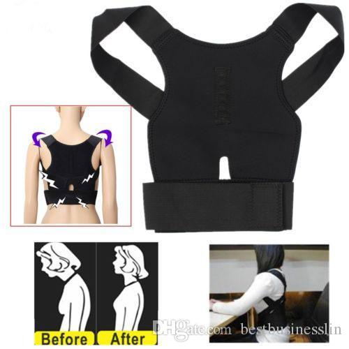 Plus Size Magnetic Therapy Body Correcteur en néoprène Retour Posture Correction Dragonne lombalgies Ceinture Brace Pour Hommes Femmes Enfants