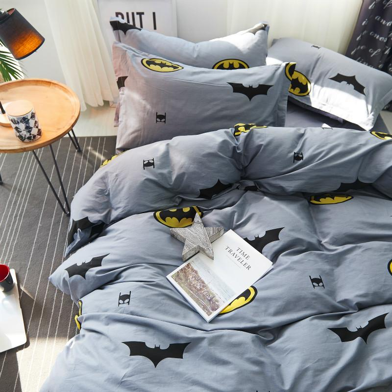 100% Cotton Duvet Covers Set Batman Bedding Set,Double Single Duvet Covers  King Size,Bedclothes High Density #237 Bedspreads Sets Solid Duvet Covers  From ...