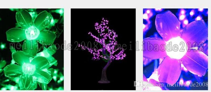 2017 LED Kiraz Çiçeği Ağacı Işık LED Ampüller 1.8m Yükseklik 110 / 220VAC Seçeneği için Yedi Renk Yağmur altında Açık Kullanım Drop Shipping MYY