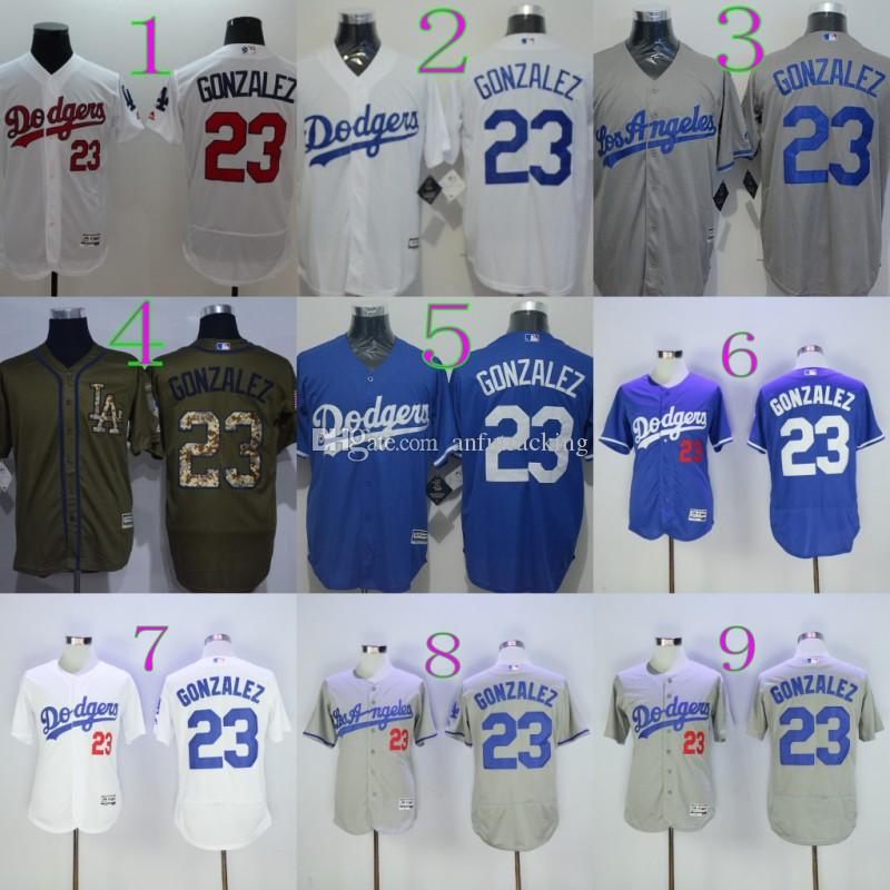 02285fad5 ... 2017 new flexbase 23 adrian gonzalez jersey mlb baseball los angeles  dodgers jerseys grey white home
