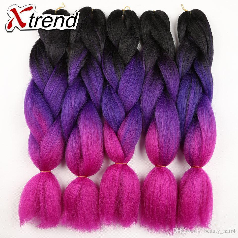 Wholesale 24inch 100gpcs ombre braiding hair extension ombre dark 48 pmusecretfo Images