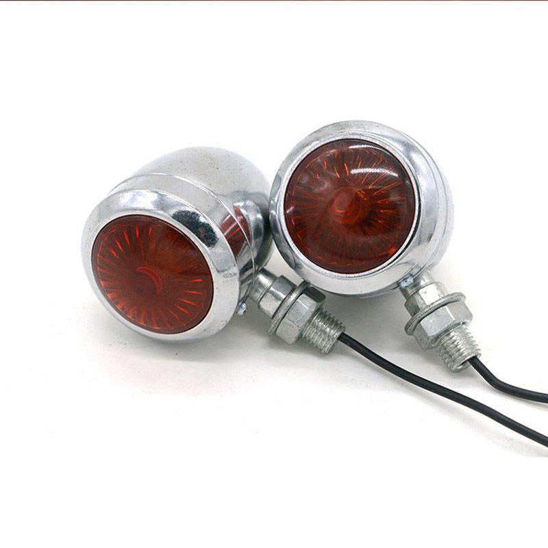 Metal Motorcycle Turn Signal Indicator Lâmpada de luz para Harley / Cafe / Racer