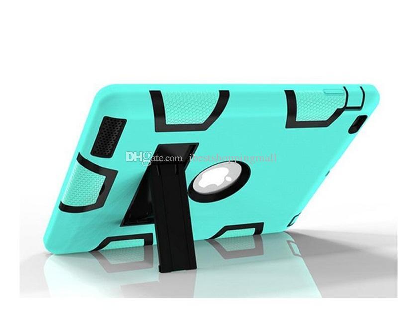 3 en 1 Hybrid Defender Funda Robot Cubierta de alta resistencia a prueba de golpes con soporte para iPad mini 1234 air air2 Pro LG Pad 2/3 Samsung Tab A E