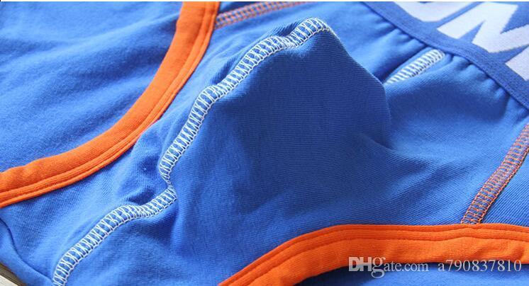 pour la taille basse tendance sexy hommes à la mode trianglepants pur coton Slips hommes Trunks Gay Pouch Homme Pantalons Cuecas homme slips NS003
