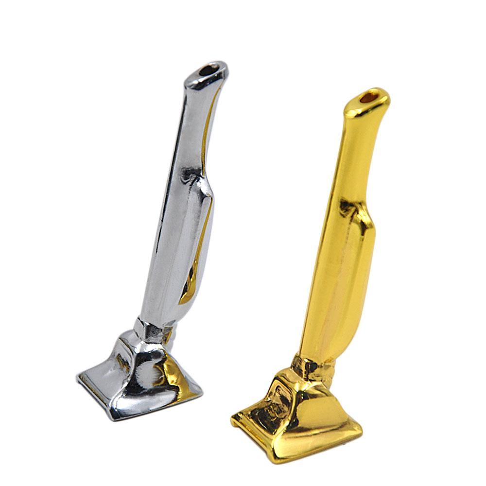 Portable MINI gold/silver color Snuff snorter smoking metal pipe shisha hookah grinder rolling machine snuff snorter cleaners mouth tips
