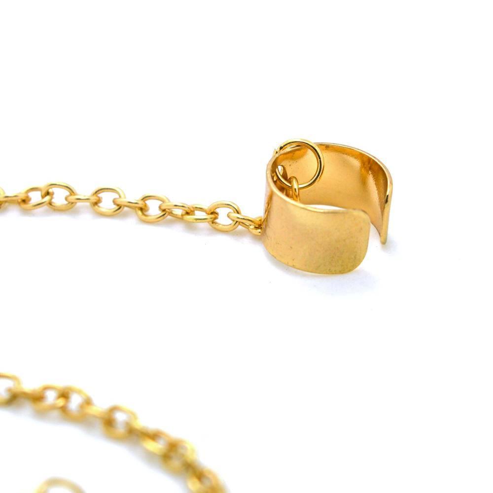 Orecchini a forma di polsino dell'orecchio di fascini a forma di catena in metallo color oro squisito orecchini orecchini donna gioielli moda semplice donna
