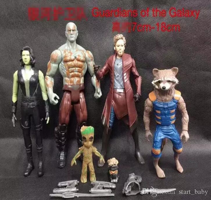 Guardians of the Galaxy 2 Action Figures toy Kids Avengers Superhero Star-Lord Rocket Baby Groot PVC toys