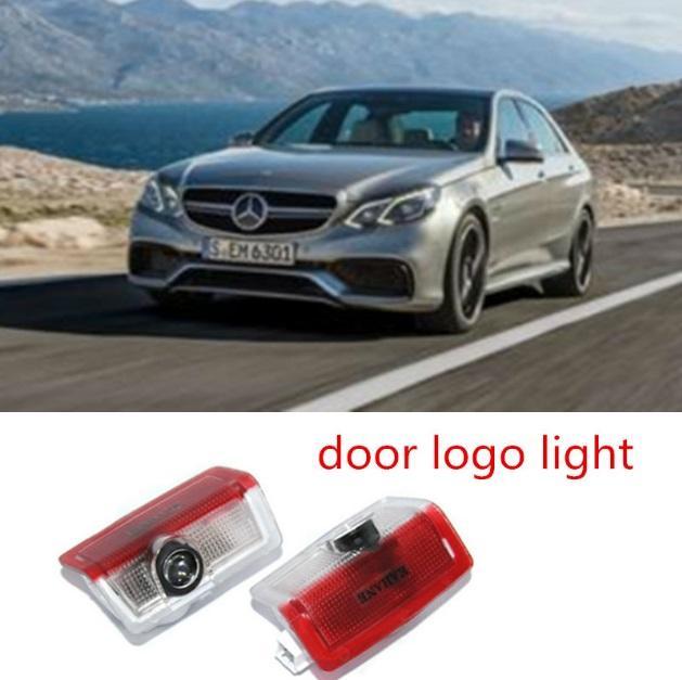 LED logotipo do carro luz da porta Bem-vindo luz Santo Sombra Projector Luz para Mercedes Benz E B C ML Classe W212 w166 w176