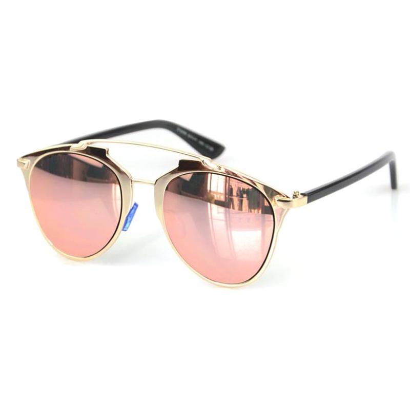 15fbf69f66b Wholesale Classic Rose Gold Mirror Sunglasses Fashion REFLECTED Brand  Designer Women Or Men UV400 Real Sun Glasses Female Eyewear Outdoor  Sunglasses At ...