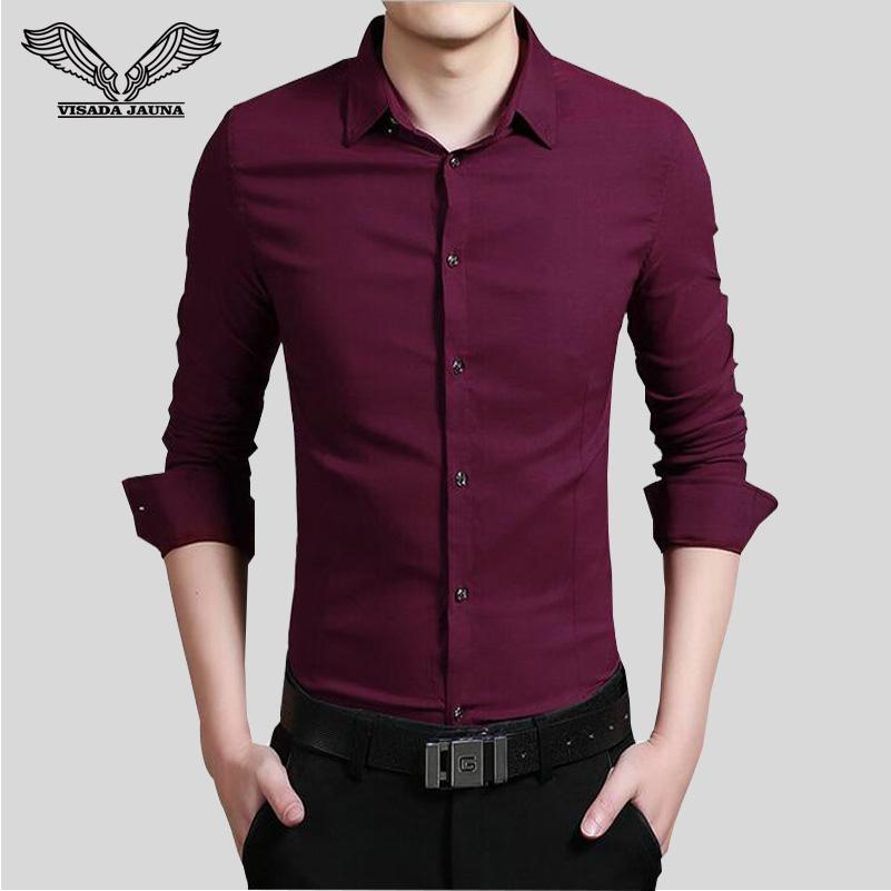 71a0d47a Wholesale- Men's Shirt 2017 New Mens Shirt New Arrvials Fashion Style Male  Shirts Long Sleeved Cotton Solid Men camisa masculina N782