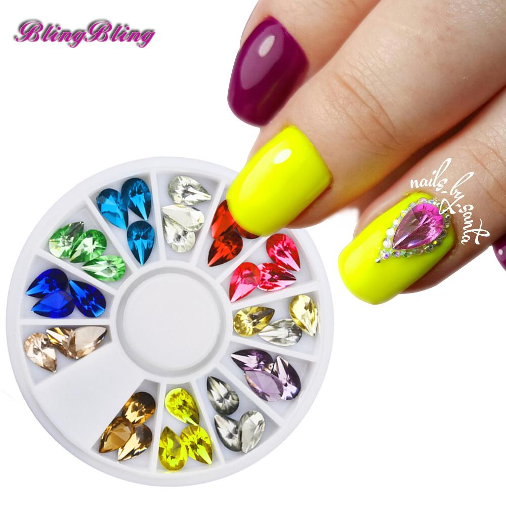 Wholesale Glitter Nail Art Decoration Acrylic Uv Gel Nail Gems Diy ...