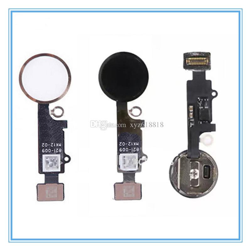 OEM Yeni Ev Menü Düğmesi Flex Kablo + Anahtar Kap Meclisi iphone 7 7G 7 Artı Parmak Izi Düğmesi Flex Kablo Değiştirme Ücretsiz Kargo