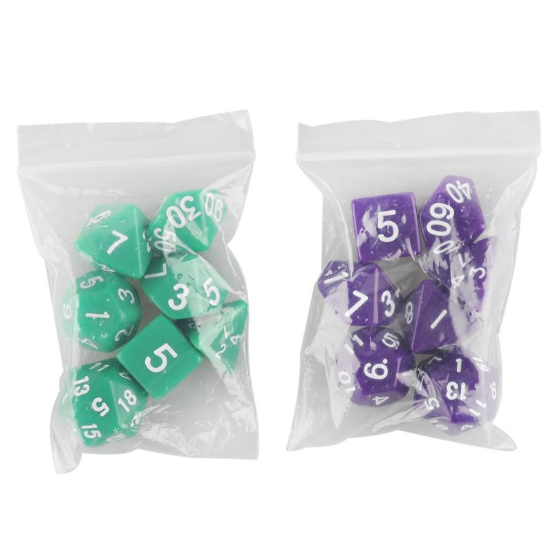 Resin Polyhedral TRPG Games For Dungeons Dragons Opaque D4-D20 Multi Sides Dice Pop for Game Gaming 2507015
