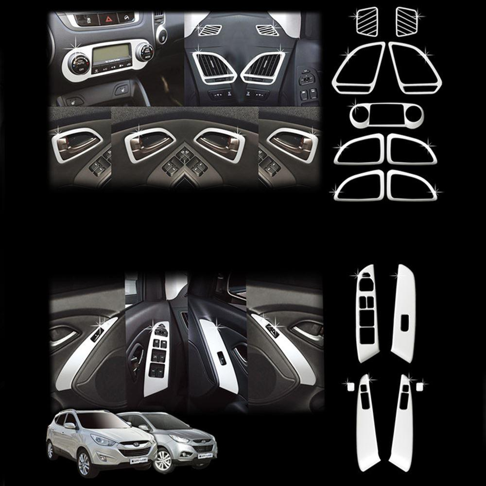 for hyundai tucson ix35 2010 2011 2012 abs chrome interior trim inner molding decoration trim. Black Bedroom Furniture Sets. Home Design Ideas