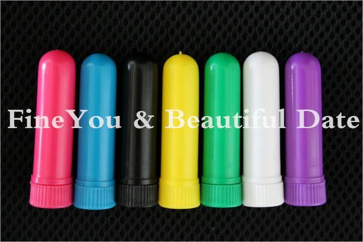 Boş Burun inhaler Sopalar, Plastik Blank İyi Pamuk Wicks DIY esansiyel yağı Aroma Burun İnhalatörler,