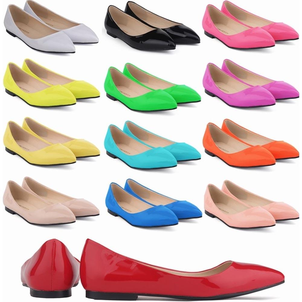 Zapatos Mujer Ladies Womens Flat Ladies Glitter Ballet Bailarina Dolly Bridal Shoes Tamaño EE. UU. 4-11 D0073