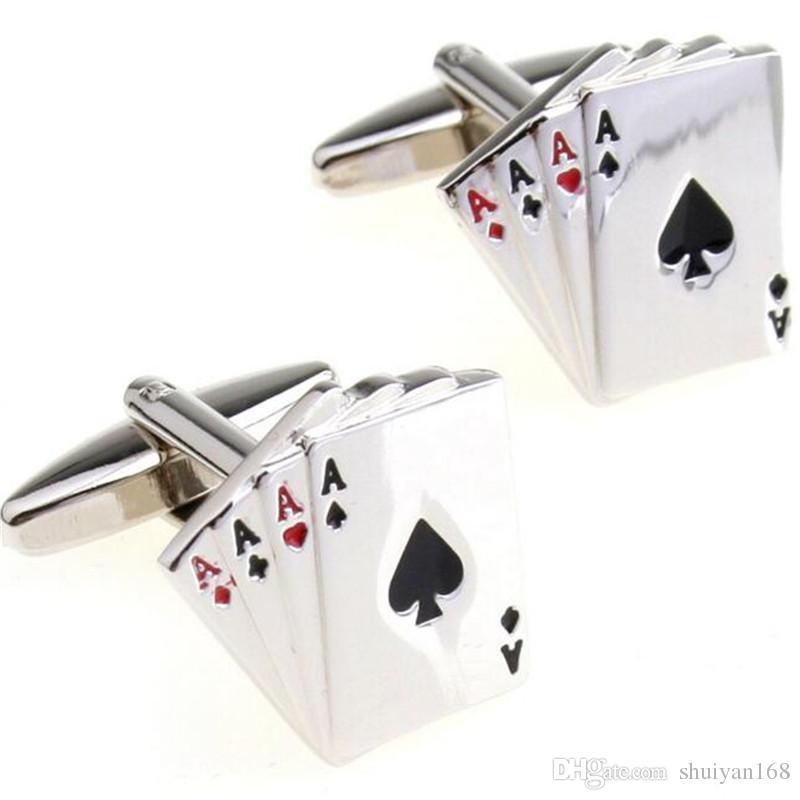 af7feb5ec9d Compre Abotoaduras Para Homens Abotoaduras De Poker Francês Dos Homens Hot  Vender Abotoaduras Abotoaduras De Jóias Camisas Para Homens Dacoration  Presente ...