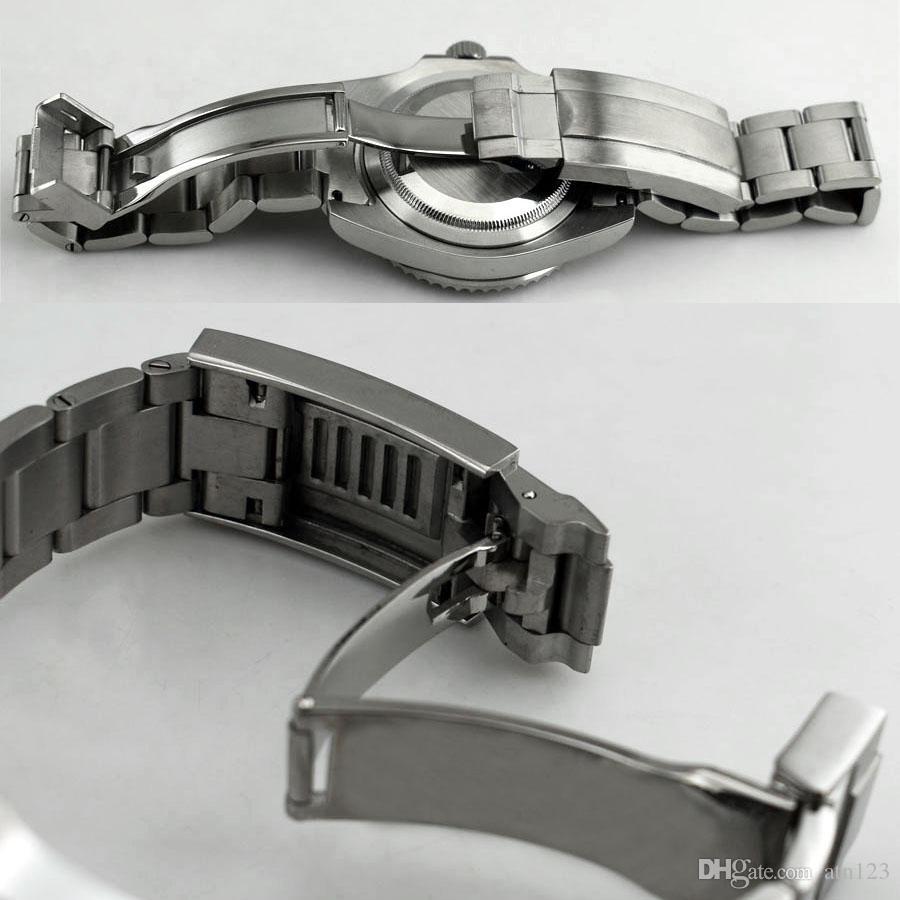 Cassa in vetro zaffiro 40mm ETA 2836 Mingzhu 2813 3804 Miyota 82 Cassa in acciaio inossidabile argento orologio da uomo P620