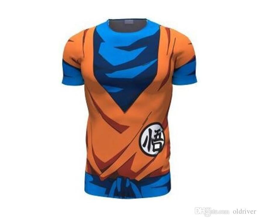 dda176d56 Compre Mais Recente Bonito Goku 3D T Camisa DBZ T Camisas Dos Homens Tees  Casuais Anime Dragon Ball Z Super Saiyan T Camisas Frete Grátis De  Oldriver
