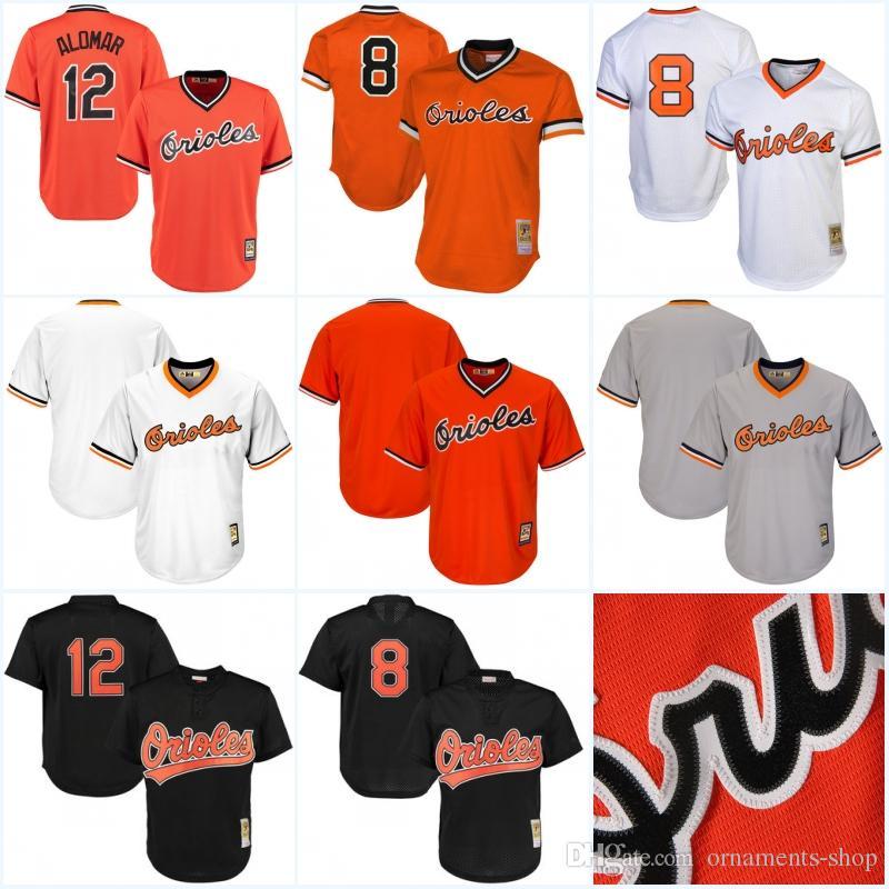 bc8c37688 2019 Men S Baltimore Orioles Throwback Jersey  12 Roberto Alomar 1985 Cal  Ripken Jr. Stitched Embroidery Logos Baseball Jerseys Orange White From  Ornaments ...