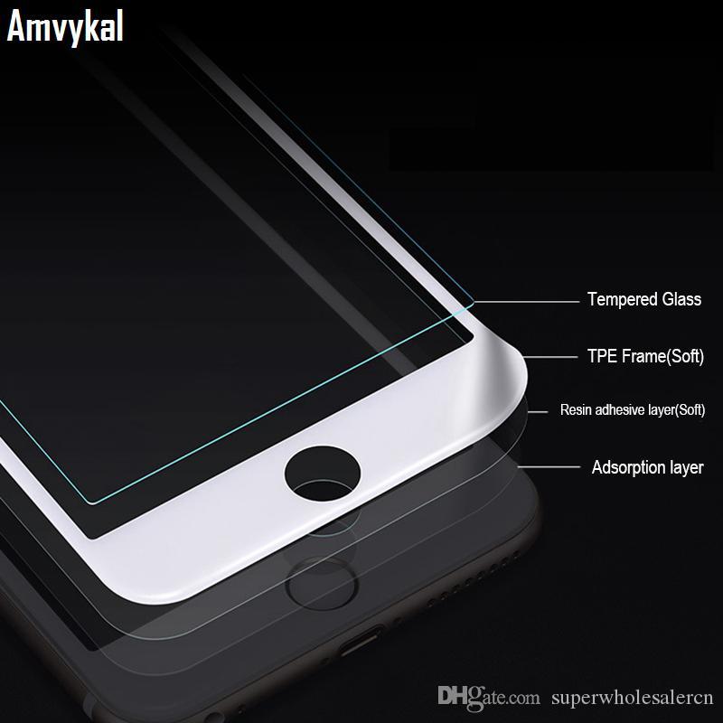 Estompée pleine couverture en verre trempé écran de protection pour iPhone 11 XR Pro X XS Max 6S 7 8 Plus Verre Trempé Film