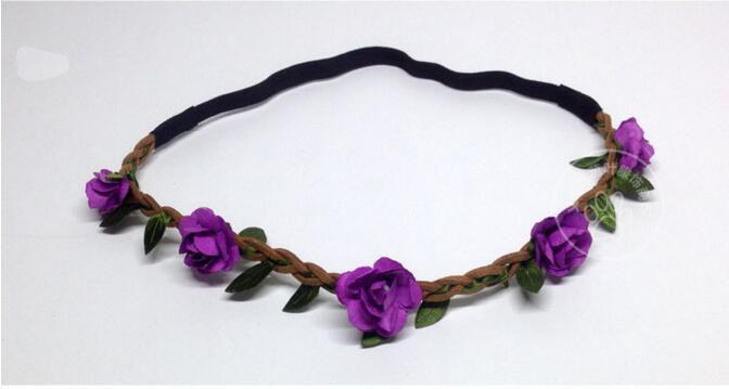 Venda de los accesorios del pelo floral Ecológico Flores Coronas novia Bohemia venda de la flor de la boda de la guirnalda del color del pelo de Headwear 12