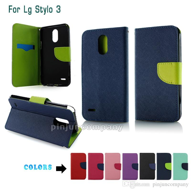 sneakers for cheap d6360 fb34c For Samsung A3 2017 A5 2017 Wallet case For LG Stylo 3 plus Stylus 3  Metropcs Soft Case Flip pu eather phone Cover