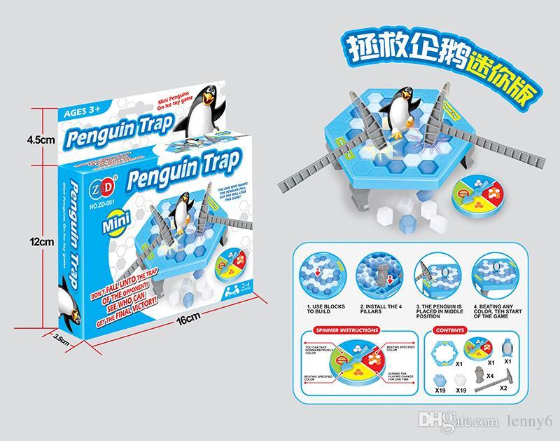 / 작은 펭귄 함정 재미 있은 테이블 게임 상호 작용하는 오락을 활성화하십시오 장난감 얼음 쪼개는 펭귄 가족 재미 게임 장난감 얼음 게임을 저장하십시오