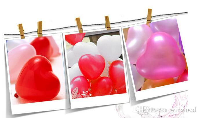 1.2g Globo de látex en forma de corazón Globo multicolor Celebración del festival Decoración Bola de juguete Regalos Fiesta de cumpleaños de boda Suministros
