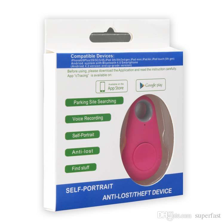 Bluetooth Smart Tracer GPS Locator Itag Porte d'alarme Finder Porte-clés Itag Pet Dog Tracker Anti enfant perdu Téléphone de voiture Remind
