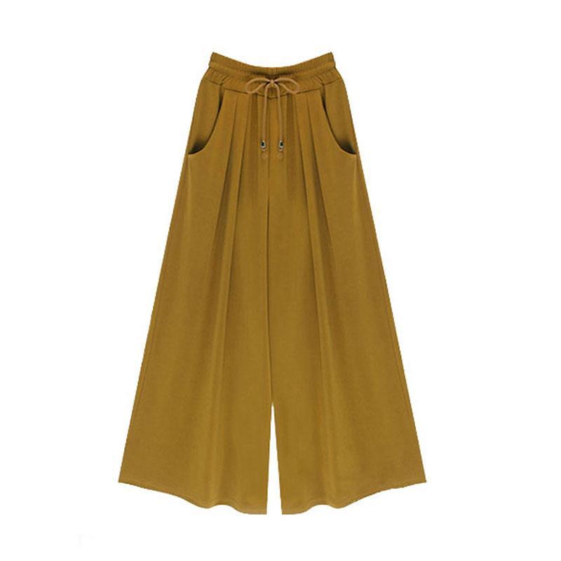 Compre 1 Unid Pantalones Anchos Para Mujer Verano Primavera Casual Pantalones Sueltos De Haren Pantalones Mujer Talla Grande Cintura Elastica Hasta El Tobillo Z533 A 12 24 Del My01 Dhgate Com