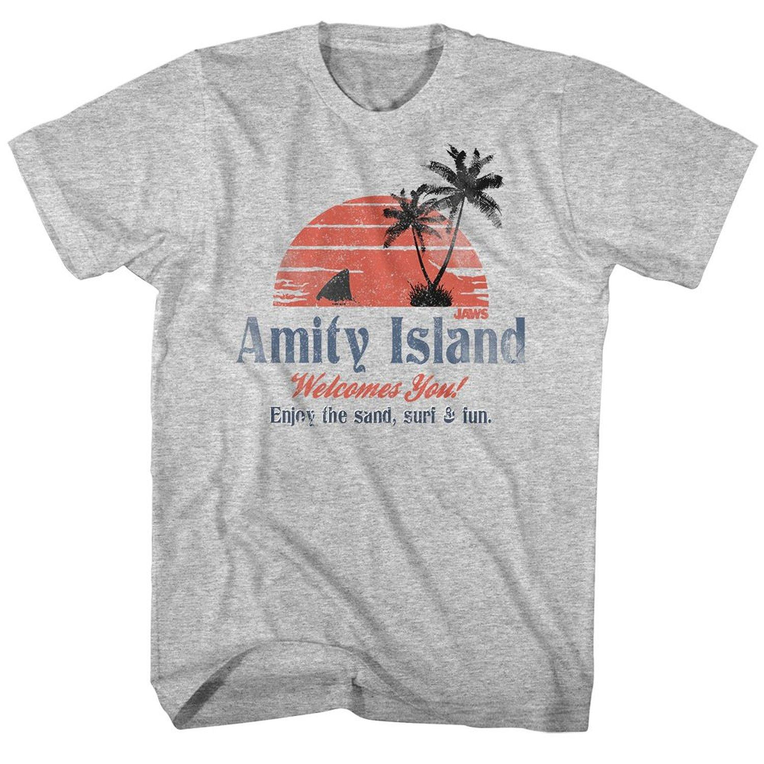 Fashion Cotton T Shirts American Classics Jaws Amity Island T Shirt Design  Short Sleeve Tee Shirt Customised T Shirts Ladies T Shirts From Bstdhgate 3274d5146