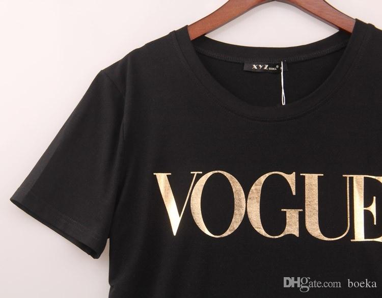 4 Cores S-4XL Moda Marca T Shirt Mulheres VOGUE Impresso T-shirt Das Mulheres Tops Camiseta Femme New Arrivals Venda Quente Casual Sakura