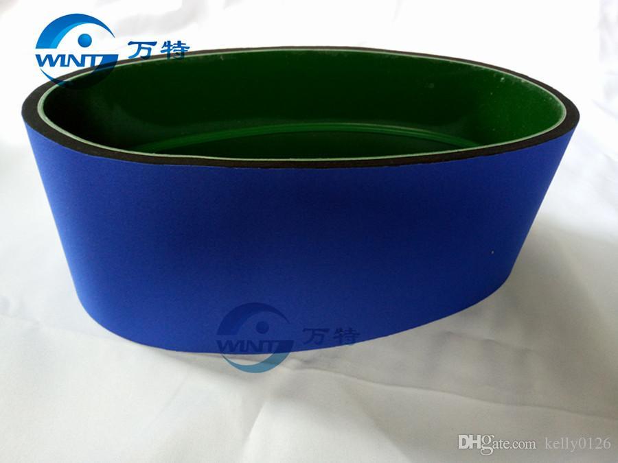 Freies Verschiffen, blaues Förderband der runden Flaschen-Etikettiermaschine MT-200 Ersatzteile 770 * 120mm Größe