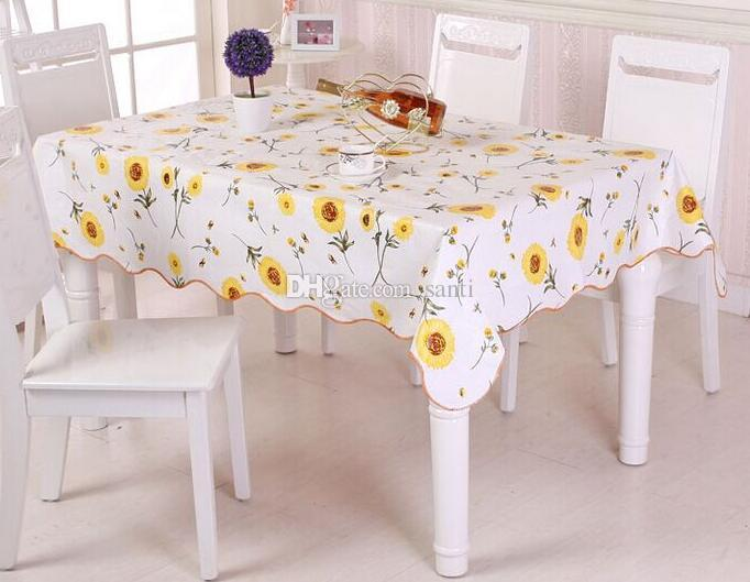 Waterproof U0026 Oilproof Wipe Clean Pvc Vinyl Tablecloth Dining Kitchen Table  Cover Protector Oilcloth Fabric Covering Cotton Tablecloth Red Tablecloths  From ...