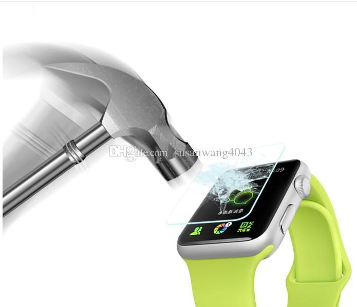 Protetor de tela de filme de vidro temperado para eu assistir apple watch 38mm 42mm 9 h protetor de tela à prova de explosão HD filme de tela BFM001
