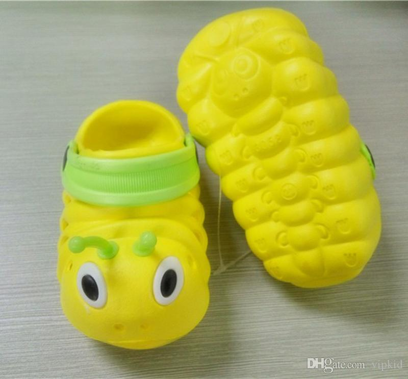 Verão Sapatos de Bebê Crianças EVA Lagartas Dos Desenhos Animados Sandálias Respirável Jardim Sapato Baby Boy Menina Praia Desgaste Chinelos