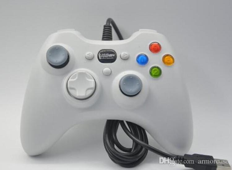 USB wire game controller Xbox 360 gamepad black PC XBOX360 Joypad joystick Vlbration Ugame XBOX360 accessory For Laptop PC Hot