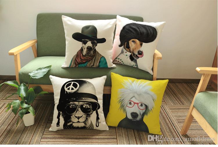 2017 New High Quality 43cmx43cm Modern Style Home Cushion Dog