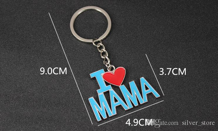 New arrival Father 's Day Mother' s Day gift I love my father I love my mother 's letter key KR017 Keychains a