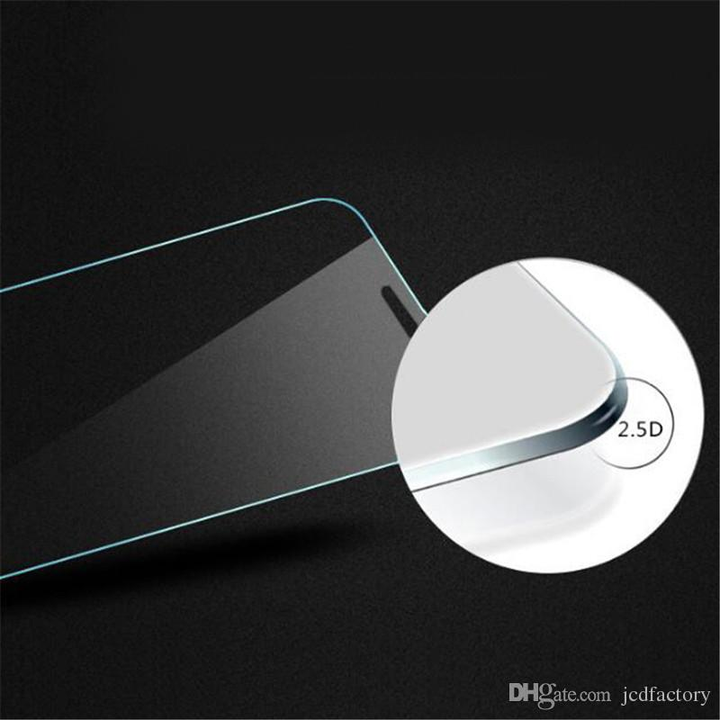 Tempered Glass For Iphone 7 Clear Screen Protectors Samsung Galaxy S7 J7 ON5 LG K20 Plus 0.26mm A8 Grand Prime Paper Package