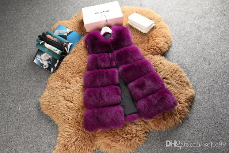 Winter Warm Vest New Arrival Fashion Women Import Coat Fur Vest High-Grade Faux Fur Coat Fox Fur Long Vest Plus Size S-3XL