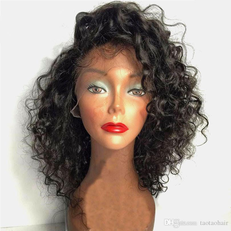Wavy Curly Bob Hair Cut Style Wavy Bob Lace Front Wigs For Black