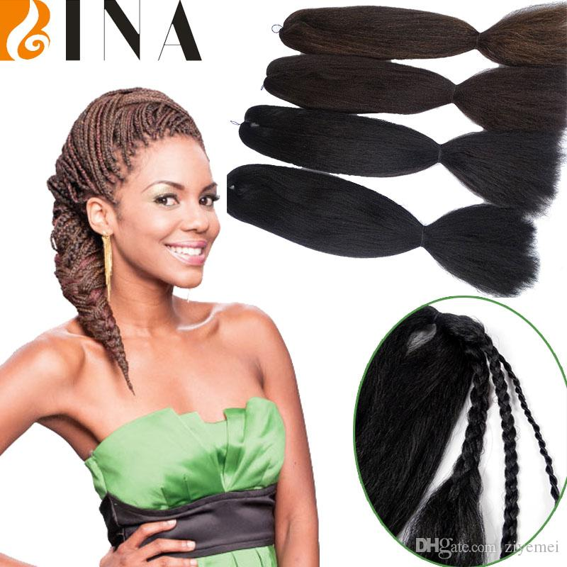 Synthetic Crochet Hair Extensions 24inches Jumbo Braid For Lady Yaki