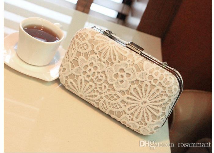 Lace Bridal Hand Bags 2020 Style Fashion Lace Flower Women Clutch Bags For Party Evenings Formal Handbags