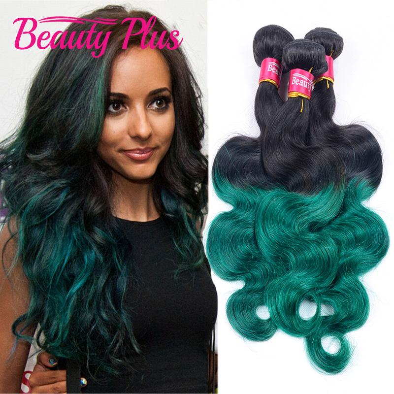 2018 Wholesale Mint Green Ombre Brazilian Virgin Hair Extensions
