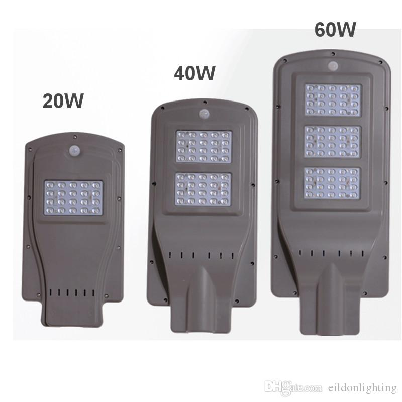 Led solar street lights 60w 40w 20w 30 85 100lm lamp all in one led solar street lights 60w 40w 20w 30 85 100lm lamp all in one waterproof outdoor panel abs pir motion sensor direct shenzhen china factory outdoor light aloadofball Images