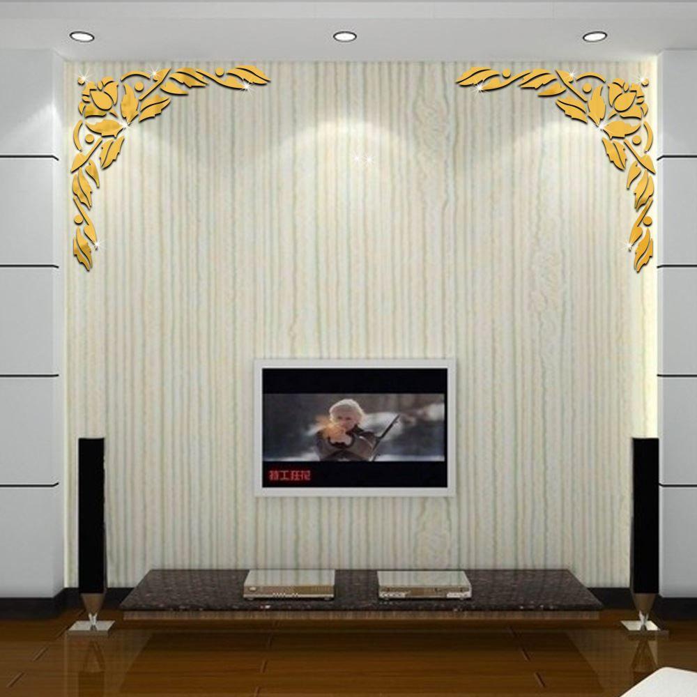 Großhandel 3d 50 X51cm Blumen Muster Spiegel Wand Tv Wohnzimmer Hintergrund  Wand Dekoration Spiegel Wand Beiträge Von Tongli0410, $21.0 Auf De.Dhgate.