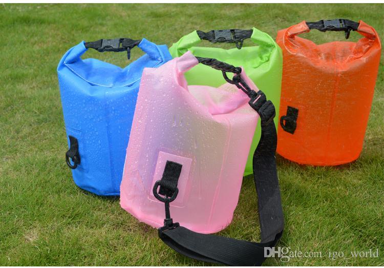 Taşınabilir Kepçe çanta Sürüklenen Kürek Tekne ücretsiz kargo Katlanabilir Toptan 5L Dayanıklı Kuru Çanta Açık Su geçirmez Çanta