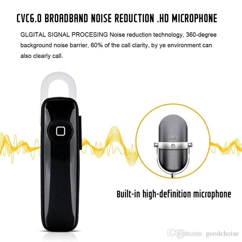 M165 unique Casque d'écoute Bluetooth sans fil universel écouteurs Mini 4.0 de casque stéréo pour les téléphones intelligents de handfree